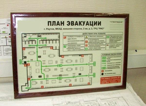 как сделать план эвакуации при пожаре образец